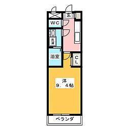 三重県伊賀市生琉里の賃貸アパートの間取り