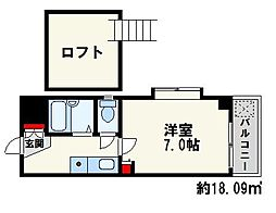 ボヌール桜坂1[1階]の間取り