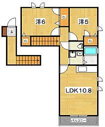 シャルムメゾン(飯泉)[205号室号室]の間取り