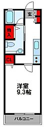 JR鹿児島本線 福工大前駅 徒歩7分の賃貸マンション 3階1Kの間取り