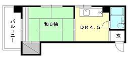 トキワハイツ[402 号室号室]の間取り