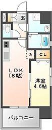 ファーストステージ江坂パークサイド[11階]の間取り