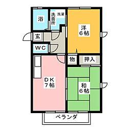 ラ・ビスタ旭[2階]の間取り