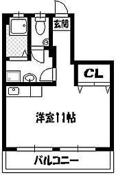 ハイツイレブン 1号館[2階]の間取り