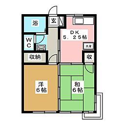 セゾンサツキNO1[1階]の間取り