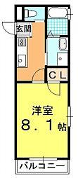 ドーリア下鴨[4B号室号室]の間取り