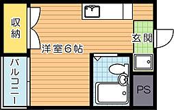 コーポえなみ[103号室]の間取り