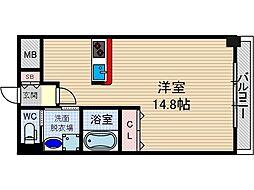 レフィナード茨木[6階]の間取り