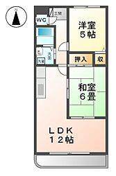 愛知県清須市東須ケ口の賃貸マンションの間取り
