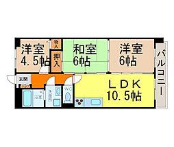 愛知県名古屋市瑞穂区市丘町1丁目の賃貸マンションの間取り