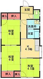 [一戸建] 神奈川県相模原市中央区上溝 の賃貸【神奈川県 / 相模原市中央区】の間取り