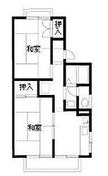 東京都調布市深大寺北町3丁目の賃貸アパートの間取り