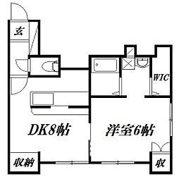 静岡県浜松市中区佐藤3丁目の賃貸マンションの間取り