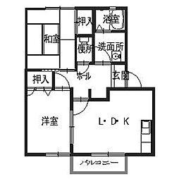 フレグランス静香II[2階]の間取り