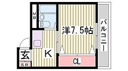 パークハイツ川本[4階]の間取り
