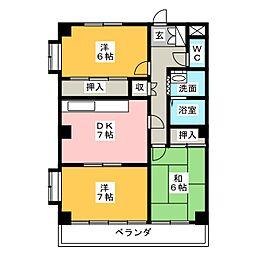 アサノハイツ[4階]の間取り