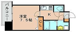 エンクレスト博多駅前III[8階]の間取り