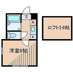 カーサフローラ[2階]の間取り