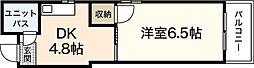 コーポ舟入南[2階]の間取り