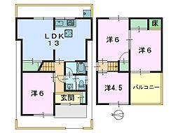[一戸建] 奈良県奈良市紀寺町 の賃貸【/】の間取り