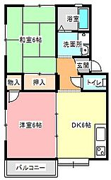 ハイツサクシード[1階]の間取り