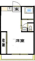 神奈川県大和市西鶴間5の賃貸マンションの間取り