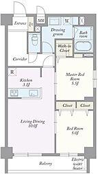 築地MKハウス[0503号室]の間取り