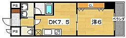 オクヨシ 1st[3階]の間取り