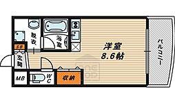ドリームネオポリス鶴見33階Fの間取り画像