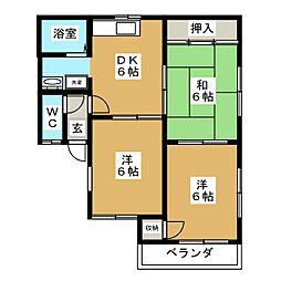 KCハイツII[2階]の間取り