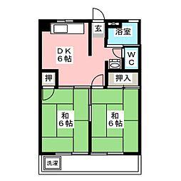 メゾン小六[3階]の間取り
