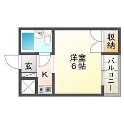 プレアール昭和台[102号室]の間取り
