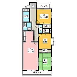 パウゼ藤ヶ丘[6階]の間取り