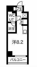 JR京浜東北・根岸線 大井町駅 徒歩8分の賃貸マンション 5階ワンルームの間取り