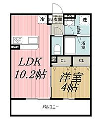 千葉県千葉市中央区院内2丁目の賃貸マンションの間取り