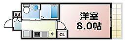 Osaka Metro中央線 緑橋駅 徒歩7分の賃貸マンション 9階1Kの間取り