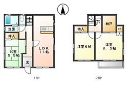 [一戸建] 愛知県名古屋市港区津金2丁目 の賃貸【/】の間取り