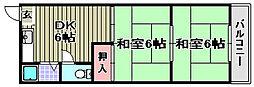 マンション浜田[115号室]の間取り