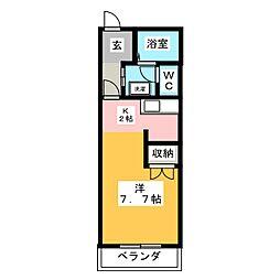 田畑ハイツ上ノ段[3階]の間取り