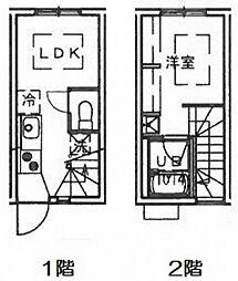 [タウンハウス] 広島県広島市南区本浦町 の賃貸【/】の間取り