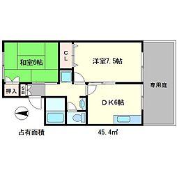 ルミエール539[1階]の間取り