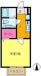 ソフィア壱番館[1階]の間取り