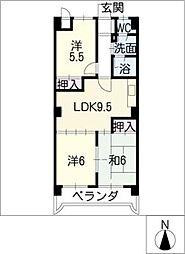 ロワールパーク[2階]の間取り