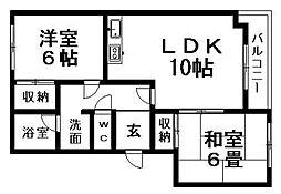 北海道札幌市清田区北野二条3丁目の賃貸マンションの間取り