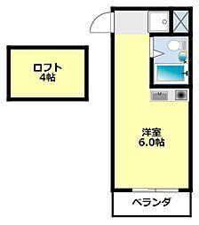 愛知県豊田市千足町比丘尻の賃貸アパートの間取り
