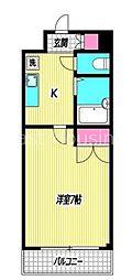 東京都杉並区天沼2丁目の賃貸マンションの間取り
