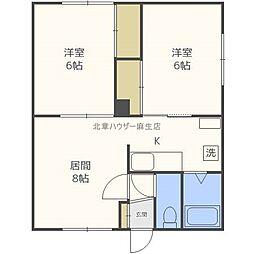 大新第2マンション[1階]の間取り