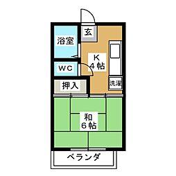 フォーブル吉田[2階]の間取り