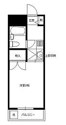 アレイ南大沢[1階]の間取り