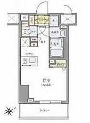 都営大江戸線 両国駅 徒歩12分の賃貸マンション 7階ワンルームの間取り